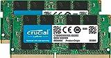 Crucial CT2K16G4SFD824A Kit de Memoria RAM de 32 GB (16 GB x 2, DDR4, 2400 MT/s, PC4-19200, Dual Rank x 8, SODIMM, 260-Pin)