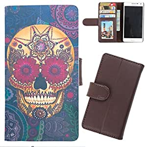 DooDa - For Samsung Galaxy Mega 2 PU Leather Designer Fashionable Fancy Wallet Flip Case Cover Pouch With Card, ID & Cash Slots And Smooth Inner Velvet With Strong Magnetic Lock