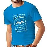 lepni.me Maglietta da Uomo Dads Contro Figlie risalenti Camicie Pullover per Il papà Regali Divertenti per Gli Uomini (Small Azzulo Bianco)