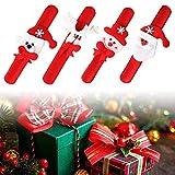 Good Sister Slap Bracelets Jouet Noël, Bracelet à Claquer Décorations LED Bonhomme De Neige Xmas Bracelet Jouet pour Enfants Cadeau