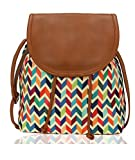 #6: Kleio Beautiful Stylish Sling Bag For Girls / Women (Multicolor)