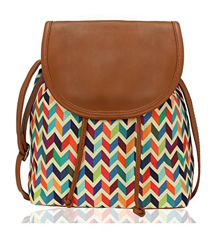 Kleio Stylish Canvas Sling Bag For Girls / Women (Multicolor)