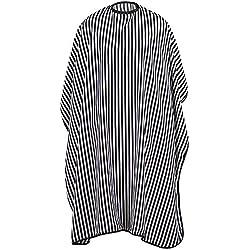 TRIXES Vestido de Peluquería Largo Completo - Negro y Blanco - Capa de Peluquería/Barbería - Monocromo - Tamaño Ajustable - Resistente al Agua Capa - Protectora - Barberia Accesorios