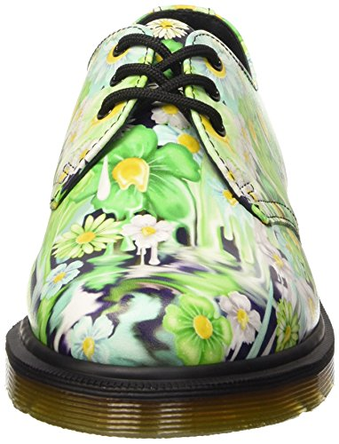 Dr. Martens 1461 Slick Backhan, Chaussures Femme Multicolore (Green Paint)
