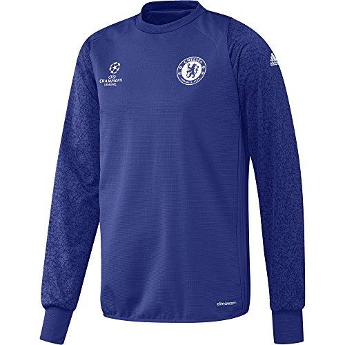 adidas Chelsea FC EU TRG Top - Sweatshirt für Herren, Farbe Blau, Größe M (Chelsea Pullover)
