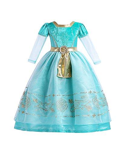 ELSA & ANNA® Mädchen Prinzessin Kleid Verrücktes Kleid Partei Kostüm Outfit Weihnachten Kleid DE-MRD01 (MRD01, Size Code 50 - 7-8 Jahre)