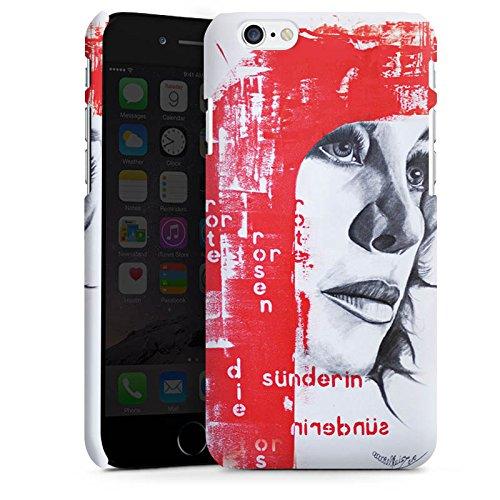 Apple iPhone X Silikon Hülle Case Schutzhülle Frau Gesicht Art Premium Case matt