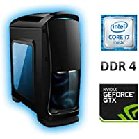 Intel Quad Core i7 7700 4.2GHz (3.6GHz), 1TB HDD, 16GB DDR4, GTX 1050 Ti 4GB, Gaming PC Base Unit MSv16 - Venom