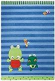 Sigikid Kinderteppich Susi Sumpfhose   blau   90 x 160 cm