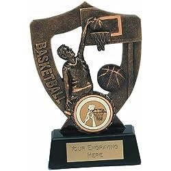 "5.5""baloncesto trofeo premio a830a–con centro personalizado gratis"