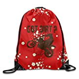 yiyuanyuantu Got Dirt Bike Motorcross Racing Drawstring Gym Sport Bag, Large Lightweight Gym Sackpack Backpack for Men and Women
