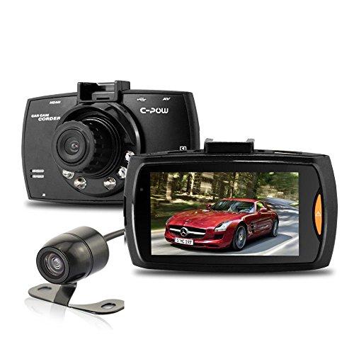 Preisvergleich Produktbild cpow 6,9cm 1080P HD Auto Dash Kamera Video Recorder DVR mit 170Grad Weitwinkel Webcam mit Nachtsicht, Loop Recording