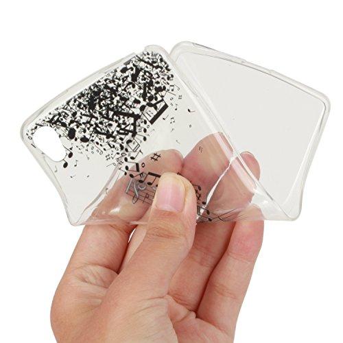 Qiaogle Telefon Case - Weiche TPU Case Silikon Schutzhülle Cover für Apple iPhone 5 / 5G / 5S / 5SE (4.0 Zoll) - HX51 / Ostrich + Flower HX29 / Wonderful musical symbols