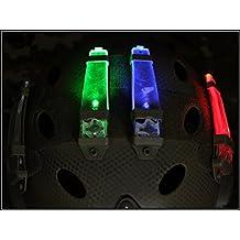 casco safty velcro V-LITE luz estroboscópica para cámping caza Luz de emergencia (Rojo)