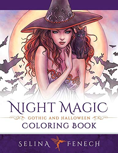 Night Magic - Gothic and Halloween Coloring Book (Fantasy Coloring by Selina, Band 10)