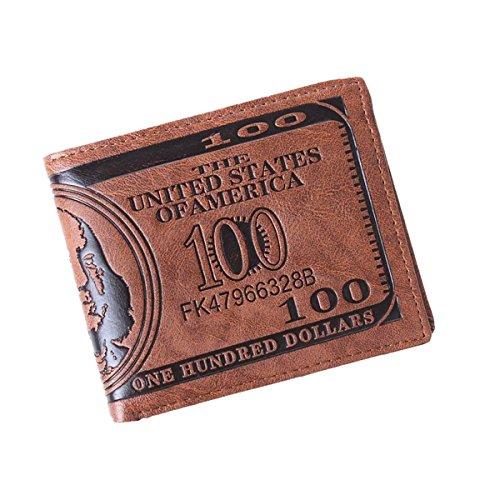 Azue PU Leder einzigartige Banknote Design Geldtasche Geldbeutel Portemonnaie Geldböse Brieftasche (Guess Geldbörsen Billig)