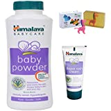 Himalaya Herbals Baby Powder (200g)+Himalaya Diaper Rash Cream (20g) With Happy Baby Luxurious Kids Soap With Toy (100gm)