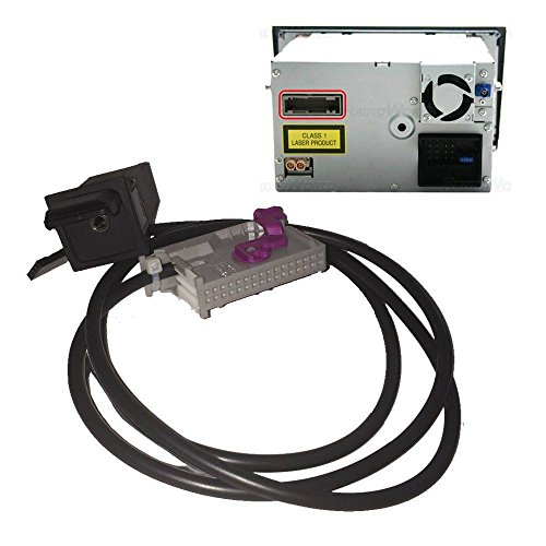 SODIAL Auto Aux-in RNS-E Navigatore AUX Button Audio Adapter Kit 32 Pin Plug Fit per Audi A3 A4 A6 A8 R8 TT