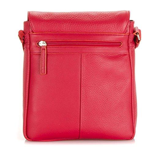 MyWalit qualité à rabat en cuir sur sac homme sac unisexe sur le corps 632 Rouge - rouge
