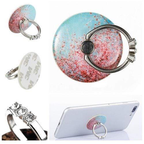 RanDal Telefon Fingerring Halter Schreibtisch Tablet Ständer 360 Grad Aufkleber Auf Geräten Sakura Flavour