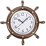 Smera Round Copper Color Analog Wall Clock For Home / Kitchen / Living Room / Bedroom (32x32 Cm)