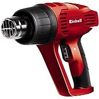 Einhell 4520179 Pistola de aire caliente - decapador TH-HA 2000/1 con rascador de pintura y 4 accesorios, 2 velocidades, 2000 W, 230 - 240 V, color rojo y negro