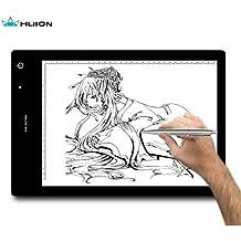 Huion® LB4 Table Lumineuse USB Batterie Rechargeable Tablette Lumineuse Portable 40x27cm avec LED Luminosité Réglable