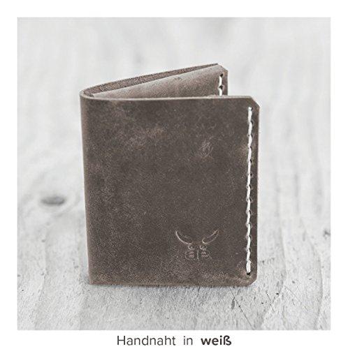 Herren Portemonnaie MONO Ledergeldbörse aus bestem Leder, handmade in Germany ()