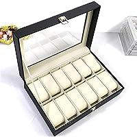 Gu3Je Jewelry Box Watch Display Jewellery Box Organizer Case Collection For jewelry storage (Color : Black, Size : 30x20x8cm)