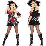 KAIDILA Disfraz de Pirata de Halloween Traje Cosplay Caribe Discoteca Fiesta temática Rendimiento Traje Adulto