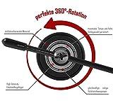 Springseil Speed Rope von BeMaxx Fitness + Trainingsguide & Extra Seil – 2 verstellbare Stahlseile, Profi Kugellager & Anti-Rutsch Griffe - 4