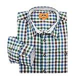 MADDOX XXL Trachtenhemd Karo blau-grün-braun, XL Größe:5XL