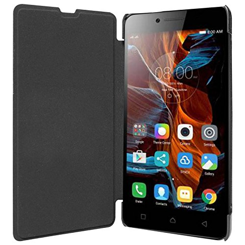 Lenovo A6000 Exclusive Flip Cover Diary Folio Case Black + FREE OTG Connector by ECellStreet