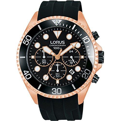 Lorus Reloj Cronógrafo para Hombre de Cuarzo con Correa en Silicona RT322GX9