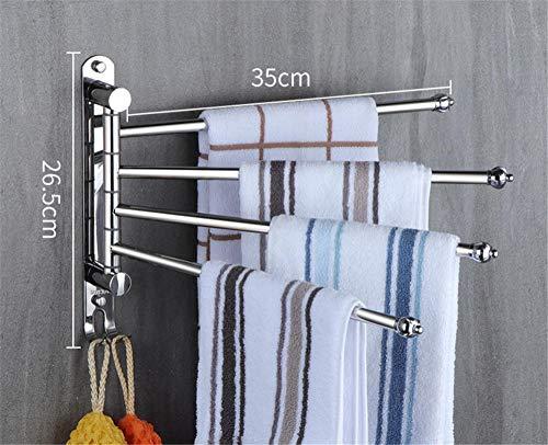 Aktivität Handtuchhalter 304 Edelstahl lange drehbare Handtuchhalter Bad Wandbehang Badetuch hängen@Spiegelleuchte_4 drehstange