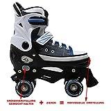 Cox Swain Kinder Rollschuhe -JOEL- Größenverstellbar: XS(29-32), S(33-36), M(37-40), L(40-43)- ABEC5, Farbe: Blue, Größe: S(33-36) -