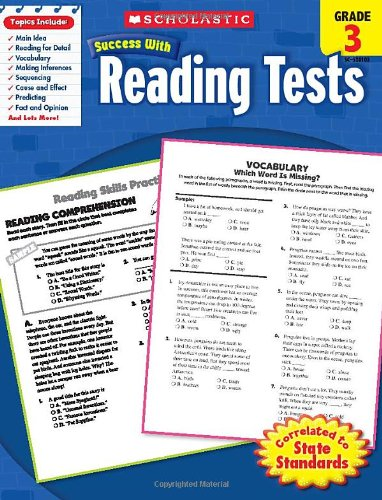 Reading Tests, Grade 3 (Scholastic Success with Workbooks: Tests Reading)