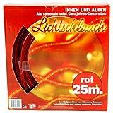 Lichtschlauch 25m in rot