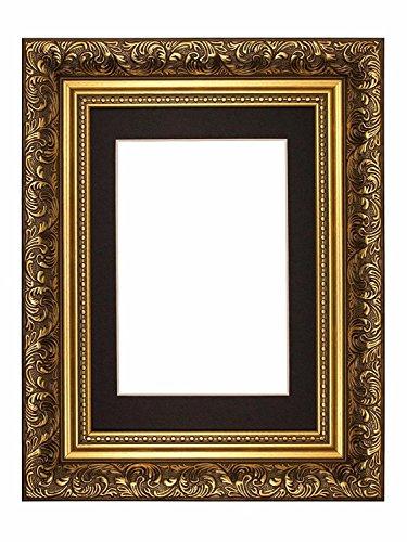 mit schwarz montieren farbiger Halterung im kunstvoll französischen Antik-Stil/Foto/Posterrahmen - 7 x 5 zoll bis 5 x 3.5 zoll Bilder ()