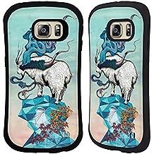 Officiel Mat Miller Recherche De Nouvelles Hauteurs Animaux Étui Coque Hybride pour Samsung Galaxy S6 edge+ / Plus