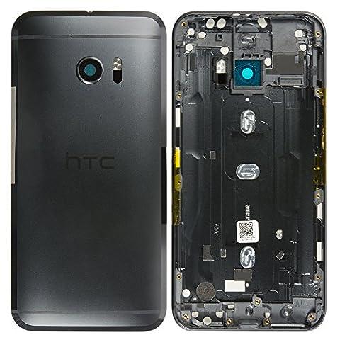 Original HTC Akkudeckel black / schwarz für HTC 10 (Akkufachdeckel, Batterieabdeckung, Rückseite, (Htc Black)