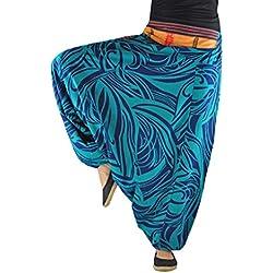 Pantalones bombachos virblatt hombre y mujer con estampados y tejidos tradicionales talla única S - L ropa hippie - Fernweh