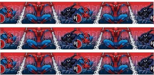 Original the Amaizing Spiderman Borte Bordüre 5 M x 16 cm Blau Wanddekoration NEU Selbstklebend