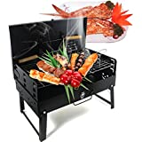 Vinteky® Portable BBQ Barbecue Voyage De Pique-nique Camping Pliage Grill avec tools