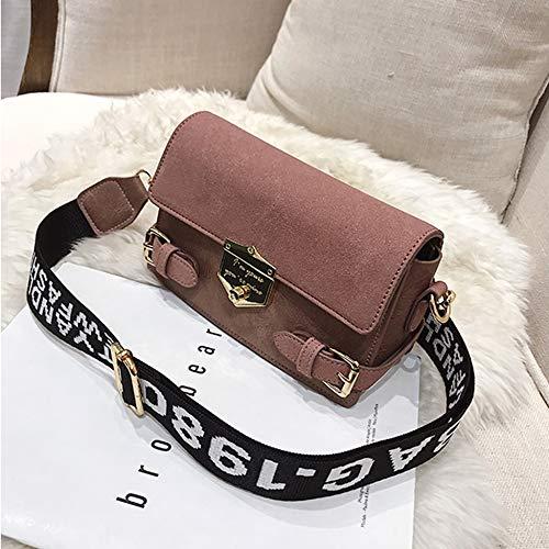 Ludage Frau Taschen Neue Flap Bag Mode Retro Schulter umhängetasche Peeling pu Leder breiter Schultergurt kleine Tasche -