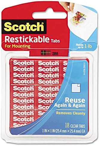 3 m Company Scotch Restickable Tabs Tabs Tabs 1 x 1 in 18 (24 pezzi) | Imballaggio elegante e robusto  | una grande varietà  | Bella Ed Affascinante Della  7efbfc