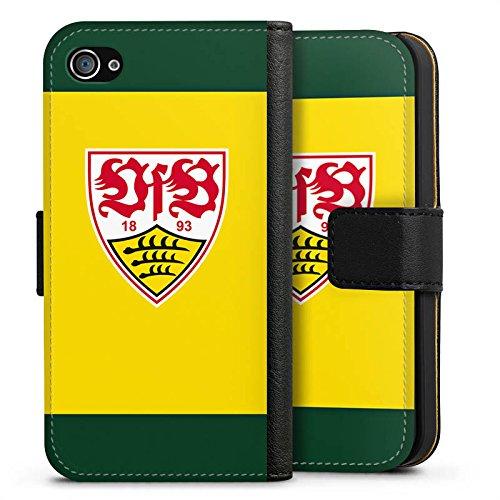 Apple iPhone X Silikon Hülle Case Schutzhülle VfB Stuttgart Fanartikel 1893 Bundesliga Sideflip Tasche schwarz