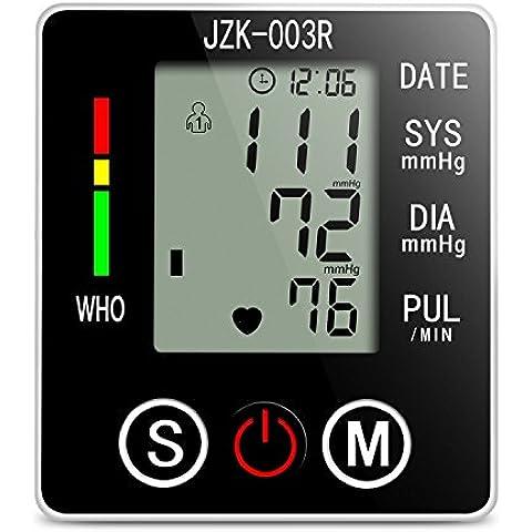 Monitor de Tensión Toprime- 003 El Modo Silencioso Monitor de Presión Arterial de Muñeca con Pantalla Digital Regalos Botones Grandes de Plástico