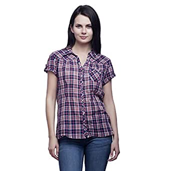 MansiCollections Checkered Casual Multicolor Shirt for Women