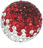Engelsrufer Damen-Anhänger Klangkugel Crystal Metalllegierung Glas weiß rot - ERS-05-ZI-S